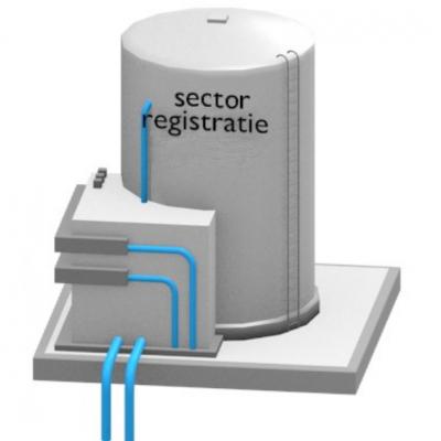 Logo voor de sectorregistraties, gebaseerd op de GDI-visualisatie