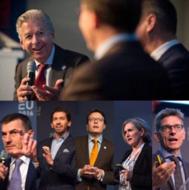 Compilatie deelnemers EU-conferentie, onder andere minister Plasterk en Constantijn van Oranje-Nassau