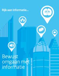 Omslag rapport met tekst: Rijk aan informatie - Bewust omgaan met informatie