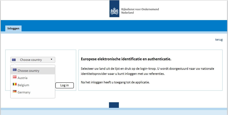 eIDAS-verordening, RVO, identificatie en authenticatie