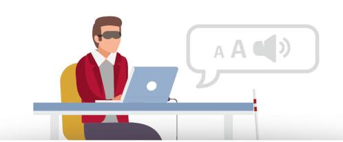 Mensen met een handicap hebben hulpmiddelen nodig om een website te gebruiken. Bijvoorbeeld een brailleleesregel of een stem die de webpagina voorleest. Op veel websites van de overheid werkt dat niet.