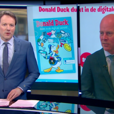 Screenshot NOS Journaal Knops en Donald Duck