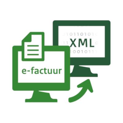 Illustratieve afbeelding: twee computers wisselen XML-bestand uit