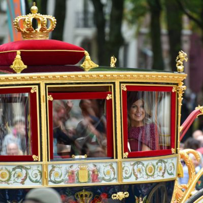 Glazen koets tijdens Prinsjesdag 2019