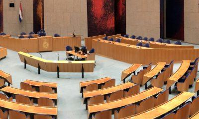 Foto van de plenaire zaal in de Tweede Kamer