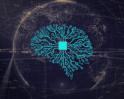 abstracte illustratie van machine learning
