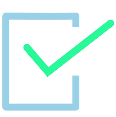 logo van direct duidelijk, vakje met een vink erdoor