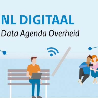 """Illustratieve afbeelding met tekst 'NL DIGITAAL Data Agenda Overheid"""""""