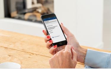 Berichtenbox-app op een mobiele telefoon.
