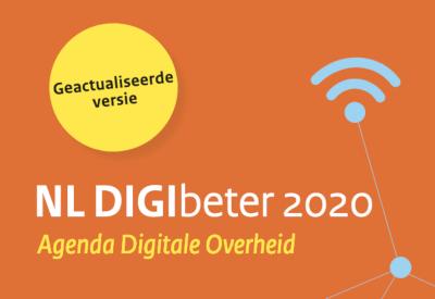 Banner met verwijzing naar document NL DIGIbeter 2020, een geactualiseerde versie van de Agenda Digitale Overheid