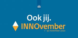 congreslogo met rijkslogo met daarin de tekst 'Ook jij Innovember 1 -30 november 2020