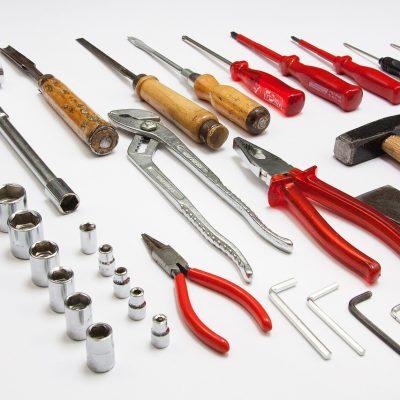 Afbeelding van verschillende soorten gereedschappen
