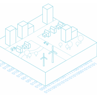 Visualisatie van een digitale representatie van een gebied